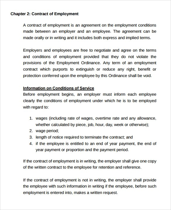 15 Useful Sample Employment Contract Templates to Download Sample - Casual Employment Agreement