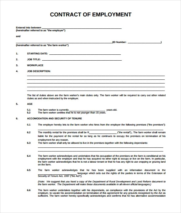 employment contract pdf - Goalgoodwinmetals - Contract Templates In Pdf