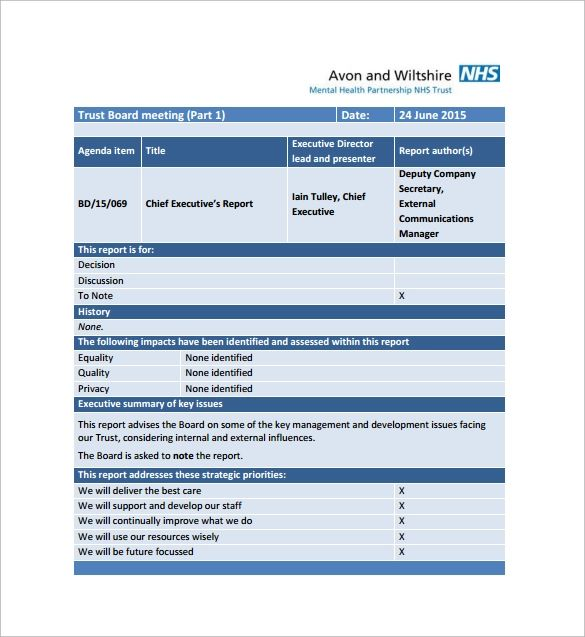 sample monthly report to management