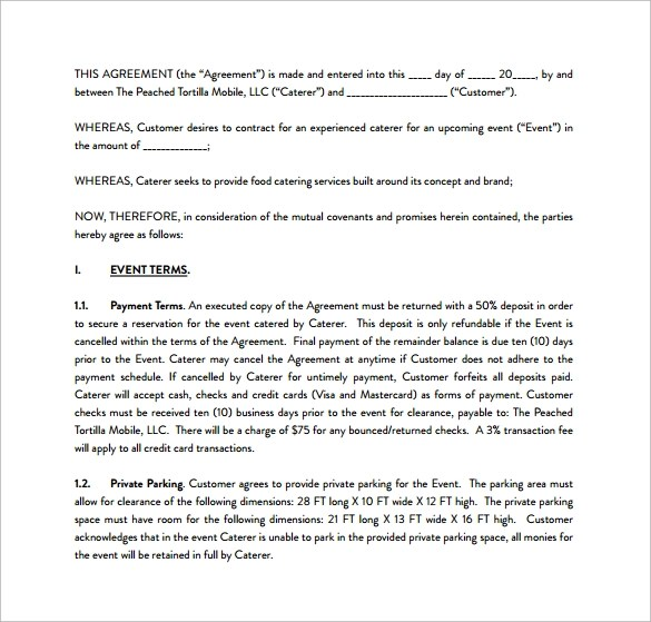 sample catering contract template \u2013 bitcoinrush