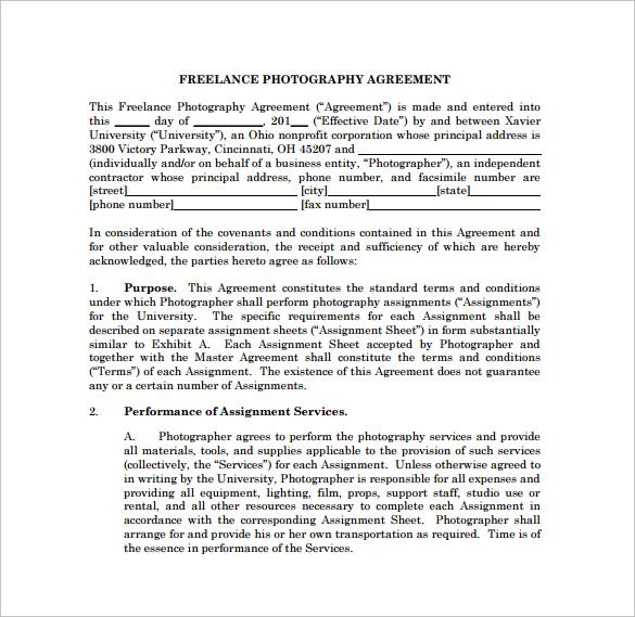 Freelance Contract Agreement Free Freelance Consultant Contract - sample freelance contract template