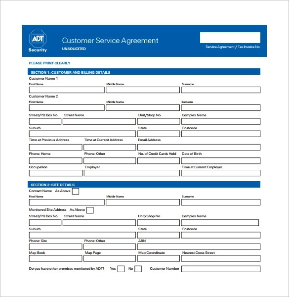 service agreement template pdf - Intoanysearch