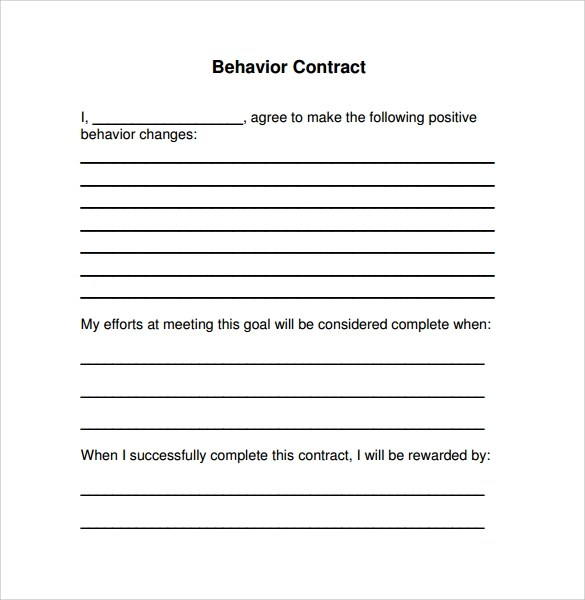 Sample Contract Template Word – Simple Contract Template Word