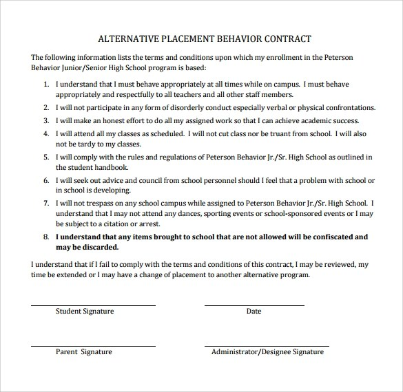 behavior contract template \u2013 bitcoinrush