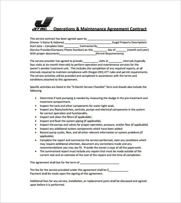 Simple Contract Template - 9+ Download Free Documents in Word, PDF - it service agreement template
