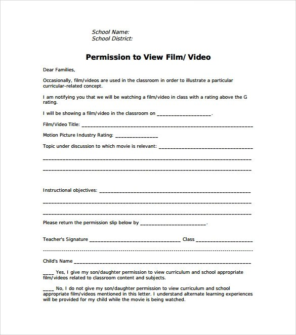 school permission slips templates - Onwebioinnovate - permission form template