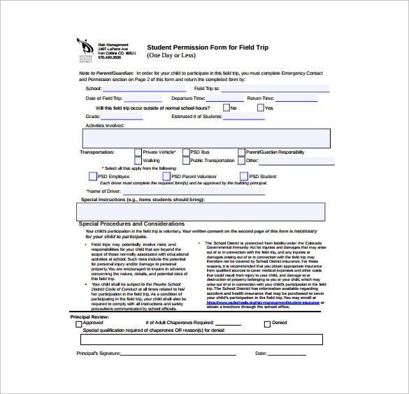 15+ Permission Slip Samples Sample Templates