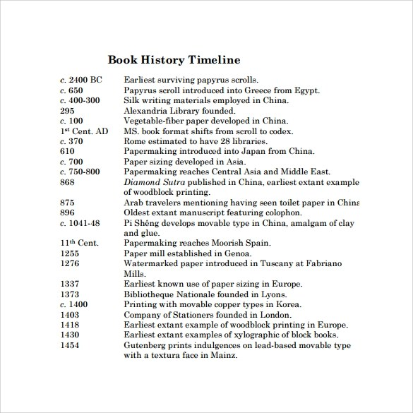 Sample Career Timeline Timeline Template For Kids - 6 Download - career timeline template