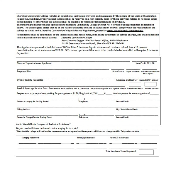 8+ Rental Contract Templates Sample Templates - free simple lease agreement template