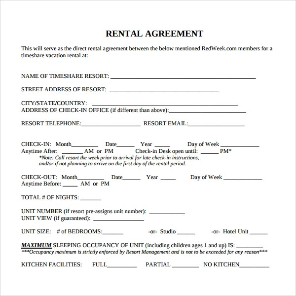 Sample Rental Contract Template - 7+ Free Documents Download in - rent contract templates
