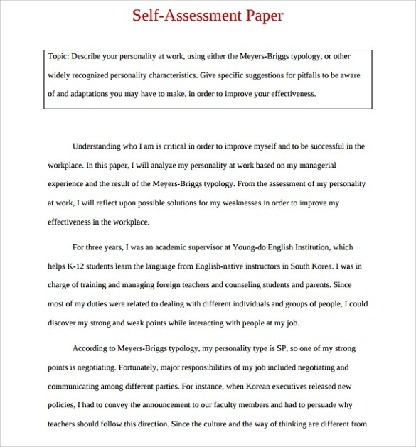 Sample Employee Self Evaluation Form - 14+ Free Documents in Word, PDF - evaluation template