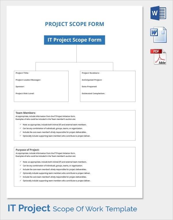 23 Sample Scope of Work Templates to Download Sample Templates