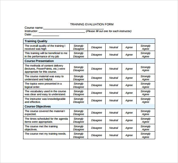 free employee evaluation template forms