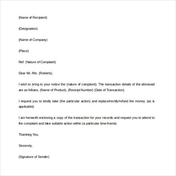 Complaint Reply Template Image collections - Template Design Ideas - complaint letter sample