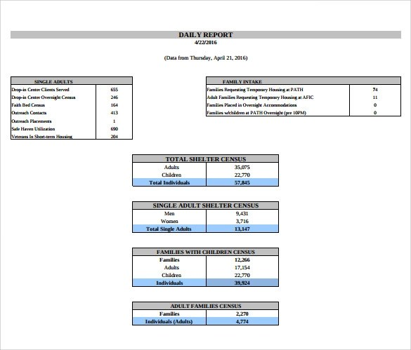 14+ Sample Daily Reports Sample Templates