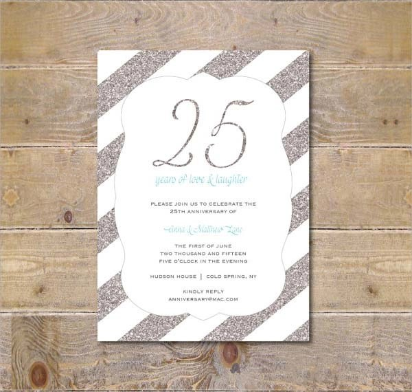 25th wedding anniversary invitations templates - Militarybralicious - anniversary invitation template