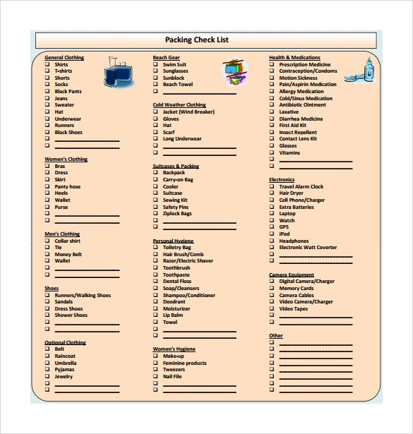 16 Sample Packing Checklist Templates to Download Sample Templates