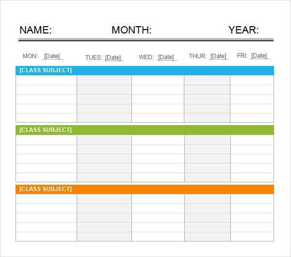 Hourly Calendar Template Microsoft Word