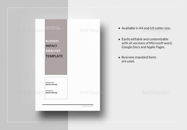 Business Impact Analysis - 7+ Documents in Word, PDF