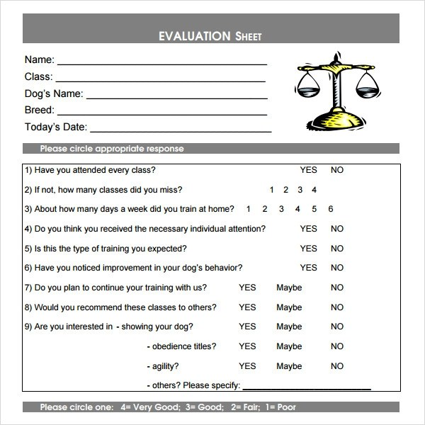 sample class evaluation howtobillybullock - class evaluation template