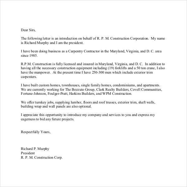 34+ Sample Introduction Letters - DOC, PDF