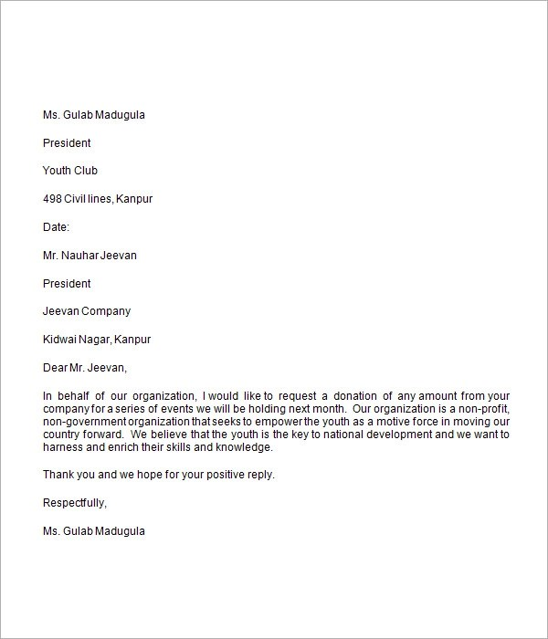 9 Sample Donation Request Letters for Free Download Sample Templates - donation request letter