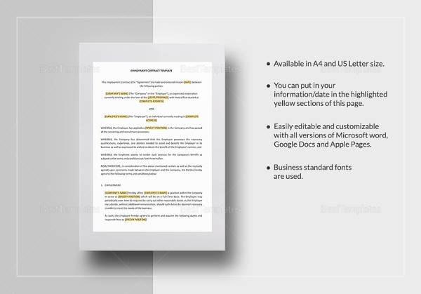 15 Useful Sample Employment Contract Templates to Download Sample