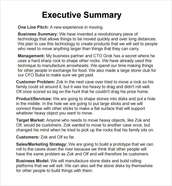 executive summary template example trattorialeondoro - sample executive summary template