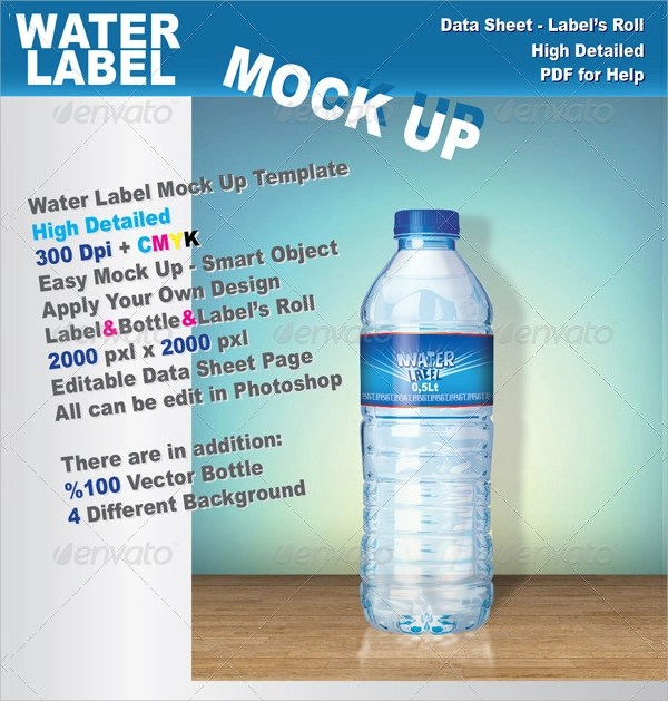 24+ Sample Water Bottle Label Templates to Download Sample Templates - abel templates psd