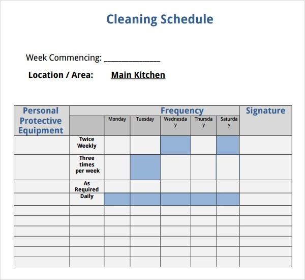 7+ House Cleaning Checklist Templates \u2013 PDF, DOC Sample Templates