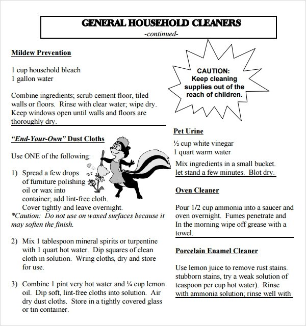 Sample House Cleaning Checklist. Cleaning Checklist Cleaning ...