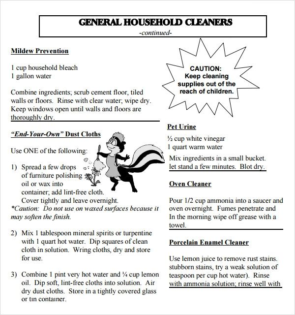 Awesome Sample House Cleaning Checklist Contemporary - Best Resume