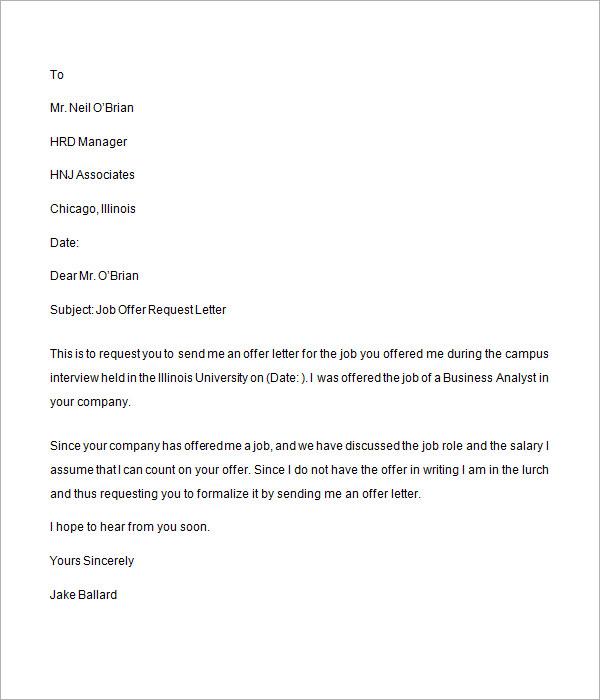 Job Offer Letter Uae