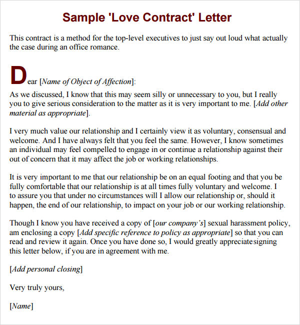 Live In Relationship Agreement Sample – Cohabitation Agreement Template