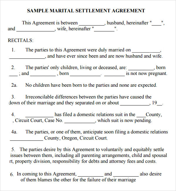 15 Sample Marriage Contract Template to Download Sample Templates - Contract Templates In Pdf