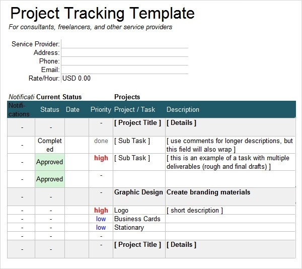 6 Sample Project Tracking Templates to Download Sample Templates