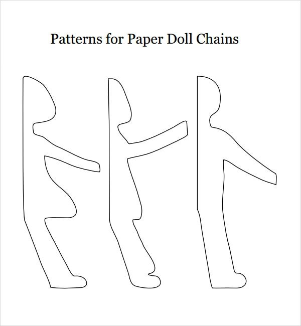 8+ Paper Doll Samples Sample Templates - paper doll template