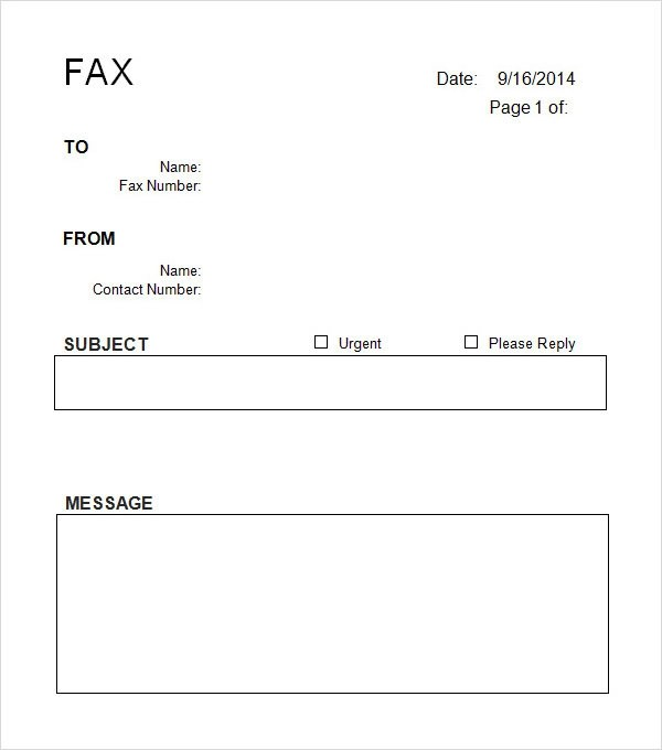 printable cover letter for fax