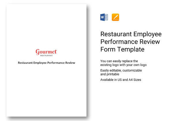8+ Employee Review Templates - PDF, Word, Pages