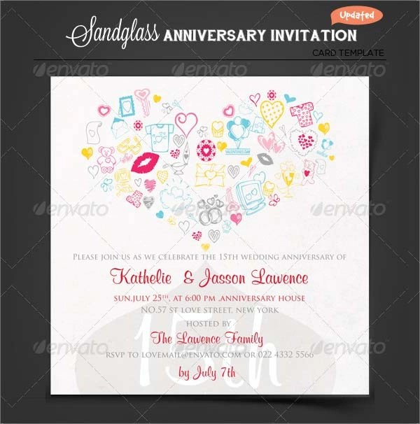 13 Sample Amazing Anniversary Invitation Templates Sample Templates