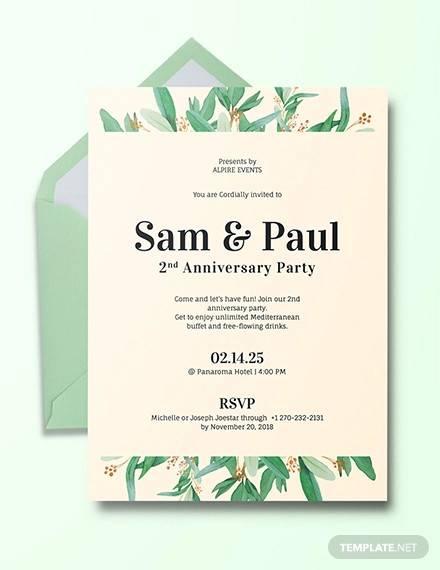 15+ Sample Amazing Anniversary Invitation Templates - PSD, AI