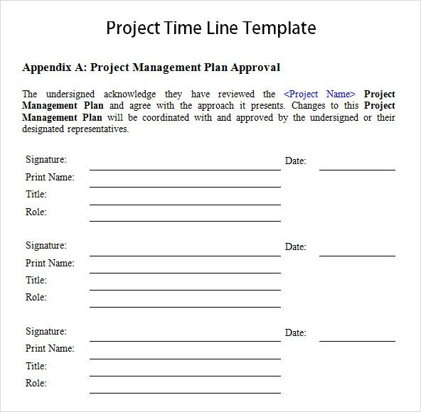 project time line template