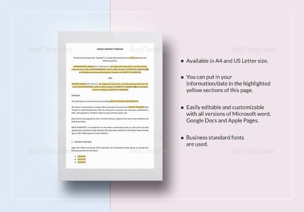 16+ Amazing Simple Contract Templates to Download Sample Templates