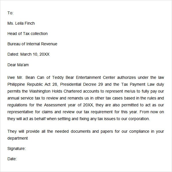 Creditcard Authorization Letter Authorization Letter Sample