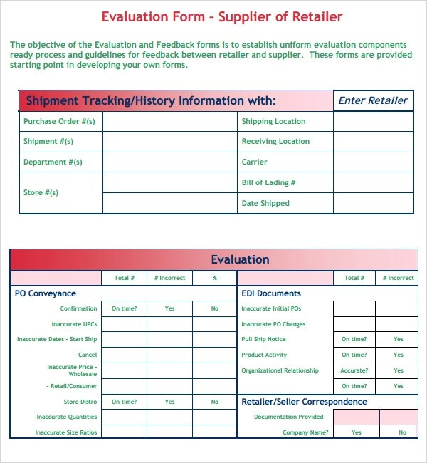 supplier evaluation template hitecauto - company performance review template