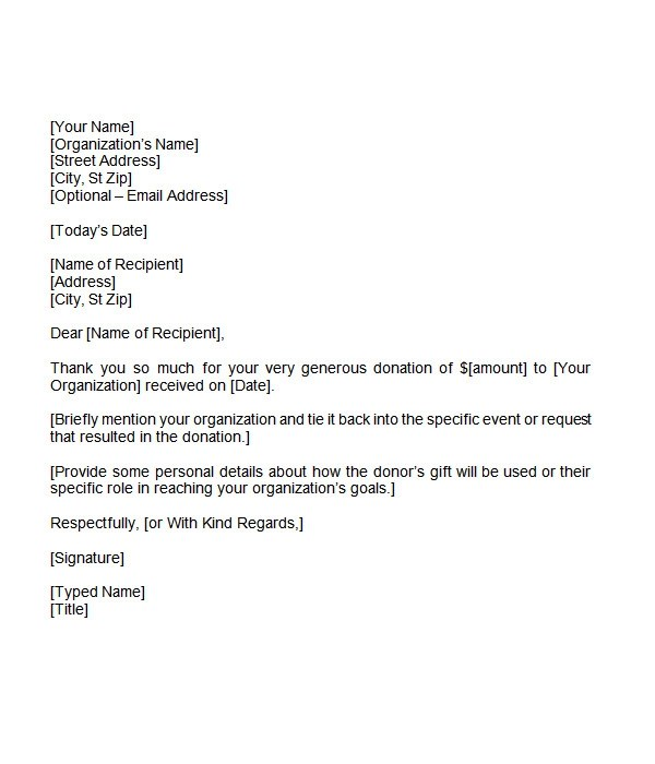 example letter for giving a donation fundraising donation letter template 12 items to include 110 thank