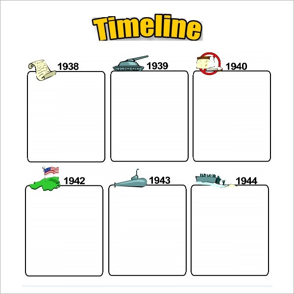 Marketing Timeline Template 7 Free Excel PDF Documents Free - sample event timeline template
