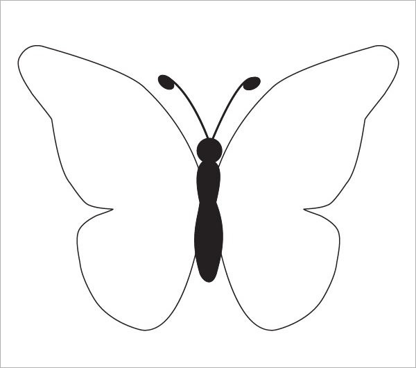 Butterfly Template Butterfly Template To Color Sample Butterfly - butterfly template