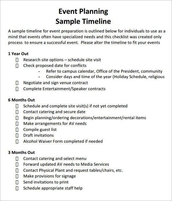 Sample Event Timeline Special Event Planning Template Resume Ideas - wedding event timeline template