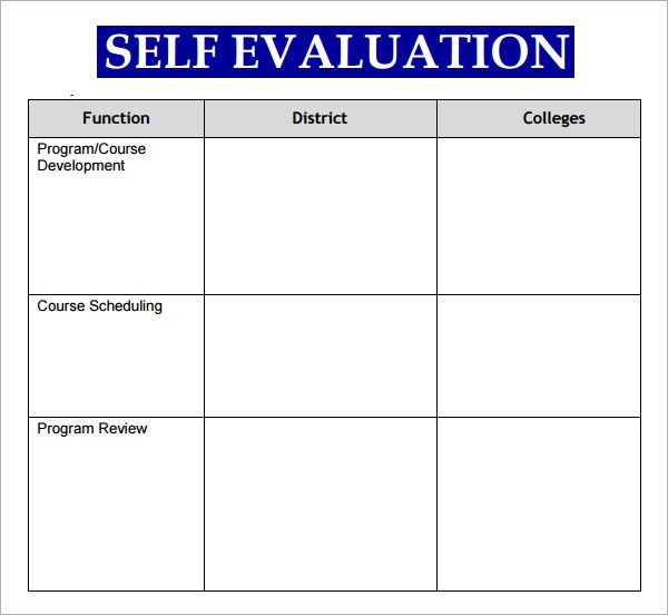 Sales Employee Evaluation Form Templates  Cover Letter Example